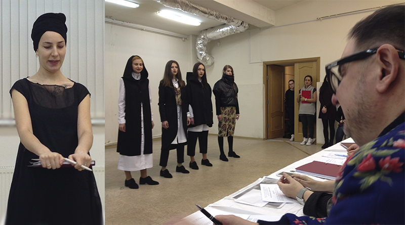 Защита дипломов дизайнеров одежды СПГУСЭ февраля my  Основной идеей коллекции Бекетовой Вероники стало современное переосмысление русского костюма в новом молодежном ассортименте